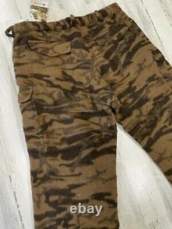 T.n.-o. Vintage Columbia Laine Gallatin Range Marron Pantalon Camo Taille 42 Chasse