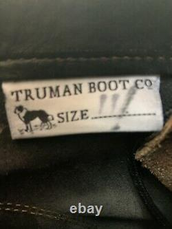 Truman Boot Co Nero Numéro De Sortie Taille 11d Commando Sole Sole Botte Avant