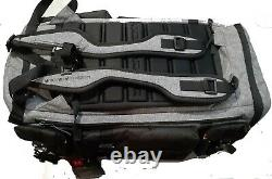 Ua Project Rock Range Duffel Bag 1325332-040 Nwt Gris Noir/jaune 23x11x11
