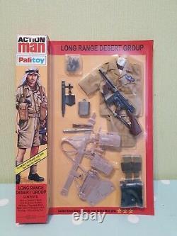 Vintage Action Man Long Range Desert Group 40e Anniversaire Cardé No1 Monnaie