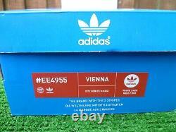 Vintage Adidas Vienna 2017 80 S Occasionnels Uk9 Bnib Rom Villes Range Mod Rare Look