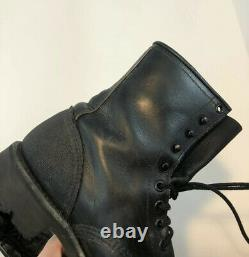 Vintage Red Wing Black Leather Heritage Work Bottes Iron Range Hommes Taille 7d