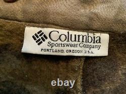 Vtg 90s Columbia Laine Gallatin Range Cargo Pantalon De Chasse Camo 32 Phg À L'extérieur