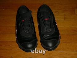 Vtg 90s Nike Air Zoom Tiger Tiger Tiger Woods Golf Shoe Noir 10.5 Rookie 1ère Année