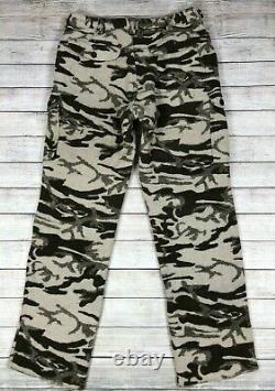 Vtg Columbia Gallatin Range Phg Snow Wool Thick Camo Cargo Pants Taille 38 X36