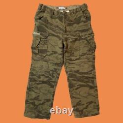 Vtg Columbia Laine Gallatin Range Cargo Pantalon De Chasse Camo 42x32 Phg Outdoor 90s