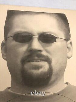 Vtg Shooting Range Cible American Paper Poster 80s Man Sunglasses Man Cave