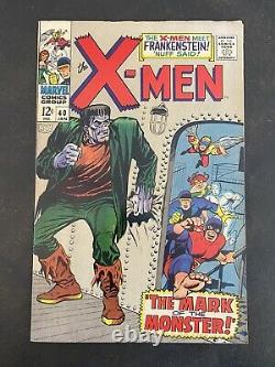 X-men #40 Marvel Comics Argent Age Frankenstein App Cyclopes Origine Gamme Fn/vf